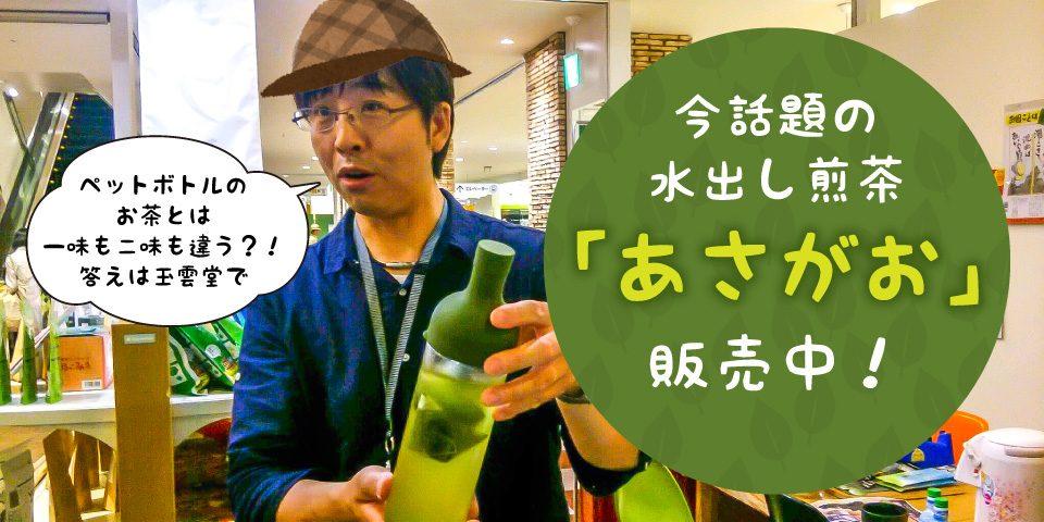 今話題の水出し茶「あさがお」 玉雲堂で販売中!